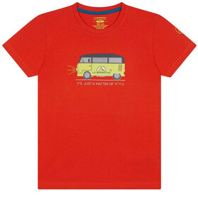 La Sportiva Van T-Shirt Kids poppy